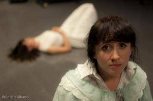 Right to left: Wendla (Tich Wilson), Ilsa (Odessa Cadieux-Rey). Photo by Brendan Albano.